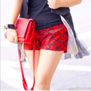 Express Dress Shorts With Floral Lace